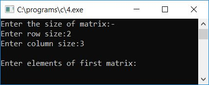 add two matrices c program