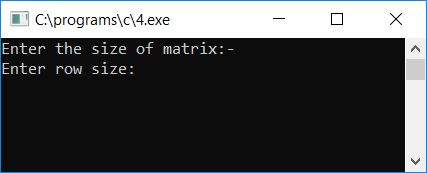 add two matrix in c