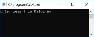 C Program To Convert Kilograms To Grams