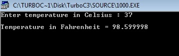 c program convert centigrade to fahrenheit