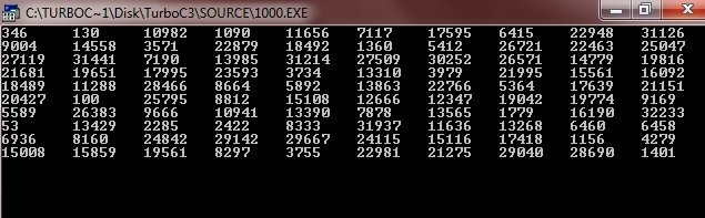 c program generate random numbers