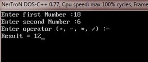 c program perform calculation