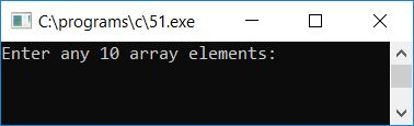 c program print odd array elements