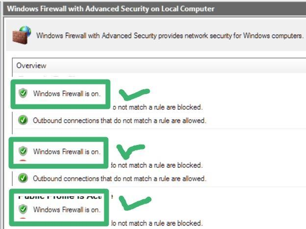 turn windows firewall on to protect from virus attack