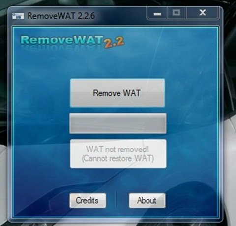 windows 7 activation remove wat