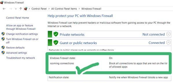 windows firewall helps from ransomware attack