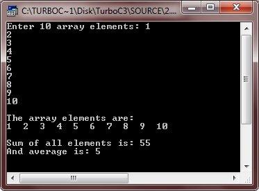 C++ One Dimensional Array