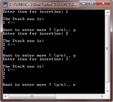 c++ stack example