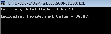 C++ Program Convert Octal to Hexadecimal Number