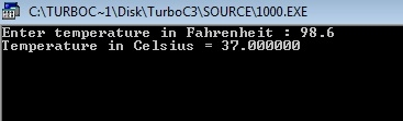 C++ program convert temperature Fahrenheit to Celsius