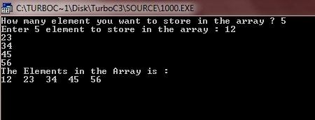 C++ One Dimensional Array Program