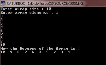 C++ program to reverse array