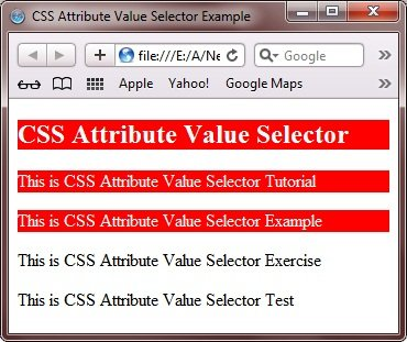 attribute selector css