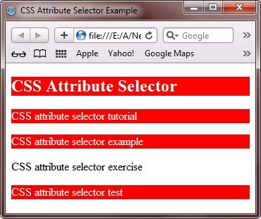 attribute value selector css