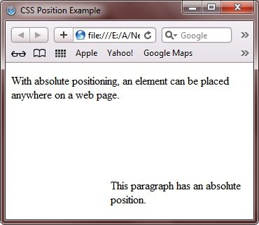 css absolute positioning