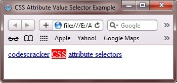 css attribute value selector