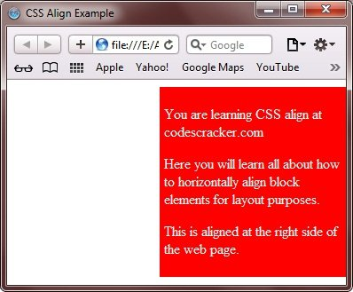 css left and right align