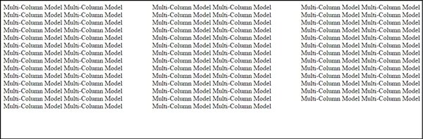 css multi column model