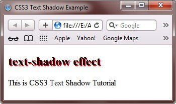 CSS Text Shadow