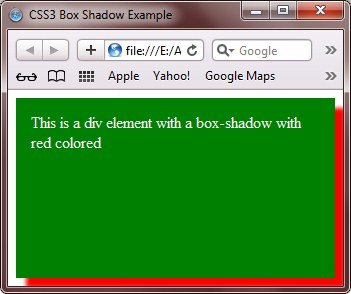 css3 box shadow
