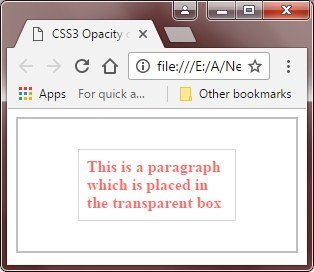 css3 image opacity example