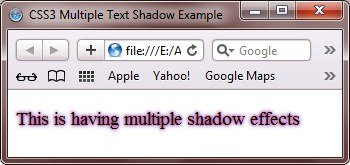 css3 multiple text shadow