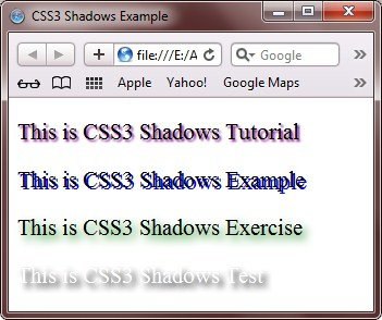 css3 shadows example