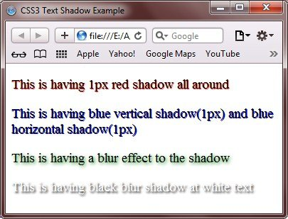 css3 text shadow example