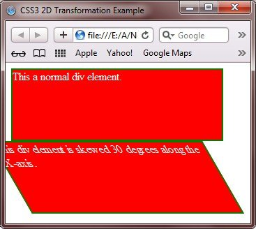 css3 two dimensional transformations