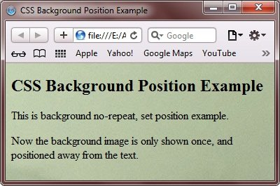 CSS Background Image Position
