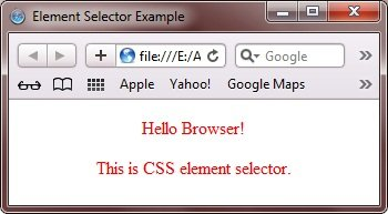 CSS Element Selector