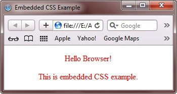 Embedded CSS Example