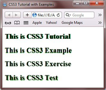 learn css3 tutorial with examples