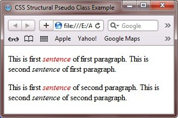 structural pseudo class example css