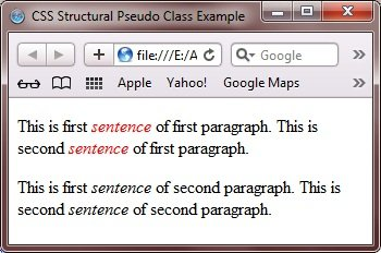 structural pseudo class