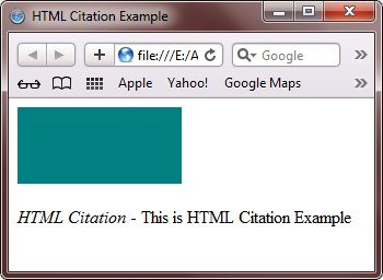html cite for work title