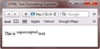 html superscripted formatting