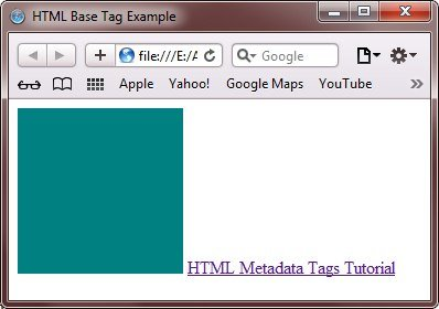 HTML Base Tag Example
