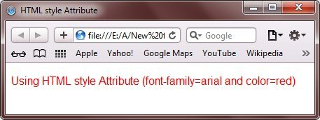 HTML Style Attribute Example