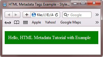 HTML Style Tag Example