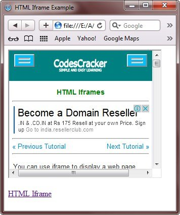iframe in html