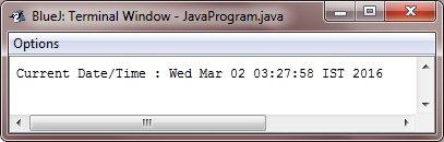 Java get current date