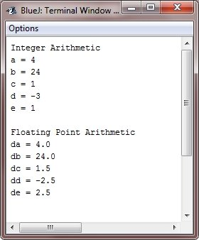 java basic arithmetic operators
