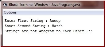 check anagram in java