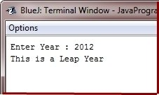 Java Program check leap year