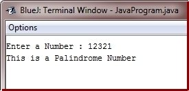 Java Program check palindrome