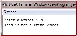check prime number in java