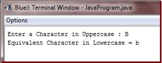 Java Program convert uppercase character lowercase