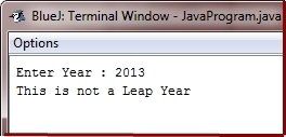 check leap year in java