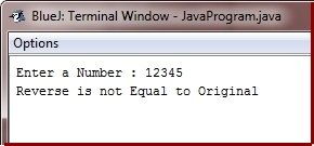 check original reverse in java